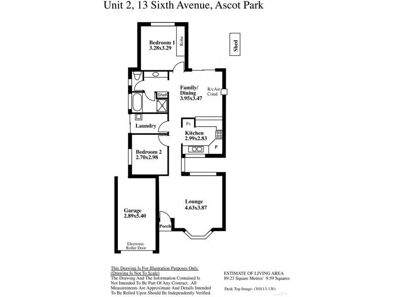 2-13 Sixth Avenue, Ascot Park SA 5043 Floorplan