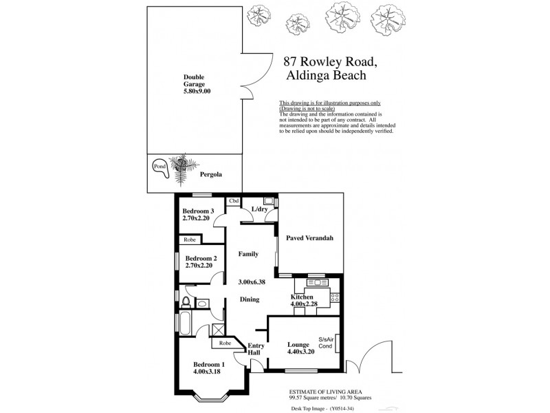 87 Rowley Road, Aldinga Beach SA 5173 Floorplan