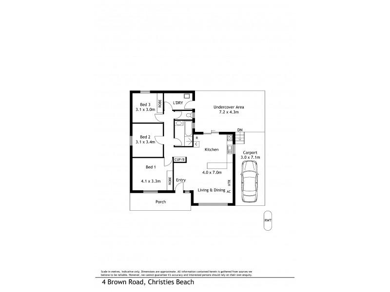 4 Brown Road, Christies Beach SA 5165 Floorplan