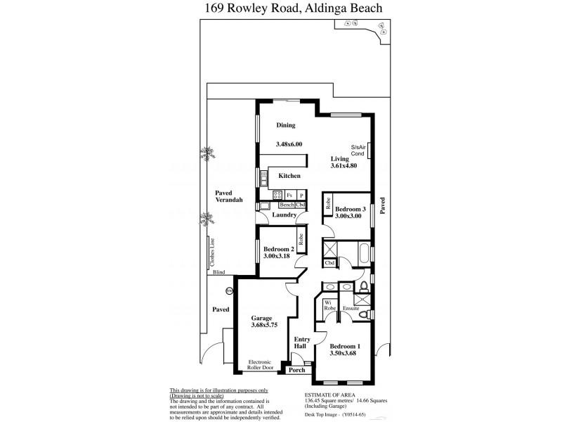 169 Rowley Road, Aldinga Beach SA 5173 Floorplan