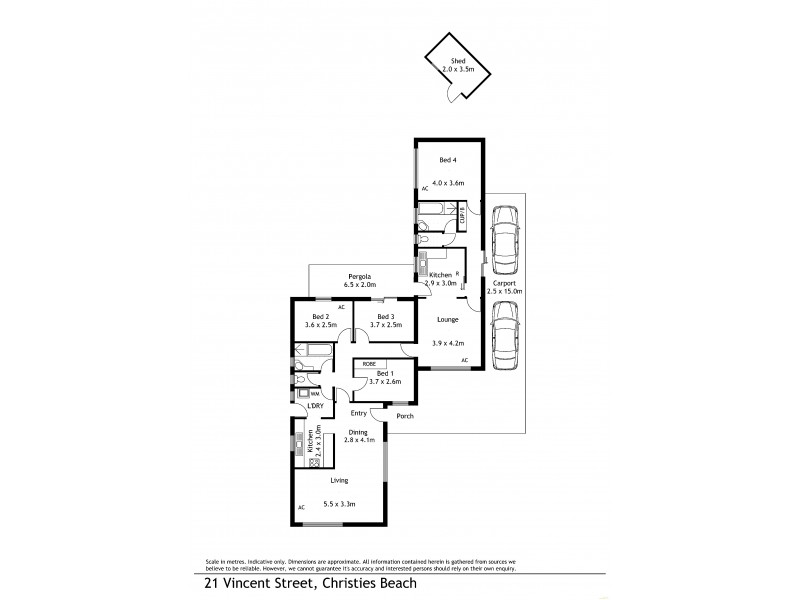 21 Vincent Street, Christies Beach SA 5165 Floorplan