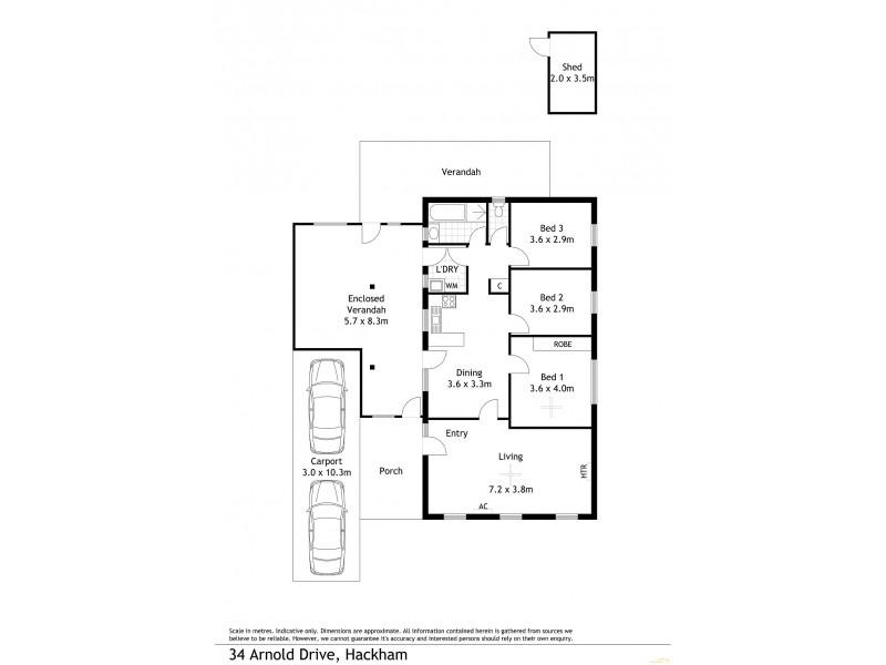 34 Arnold Drive, Hackham SA 5163 Floorplan