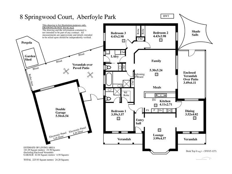 8 Springwood Court, Aberfoyle Park SA 5159 Floorplan
