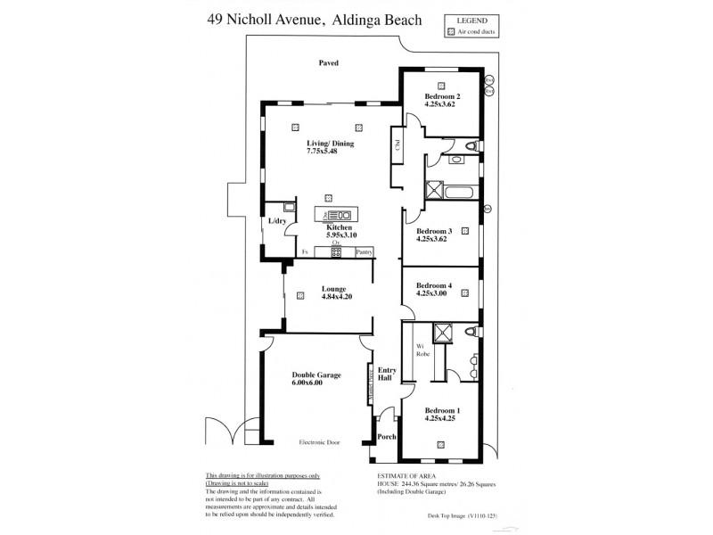 49 Nicholl Avenue, Aldinga Beach SA 5173 Floorplan