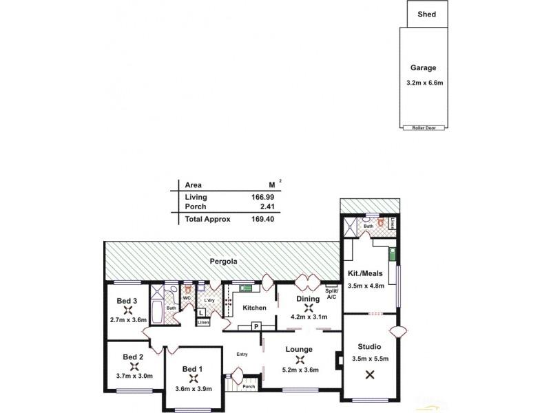 13 Winifred Avenue, Glandore SA 5037 Floorplan