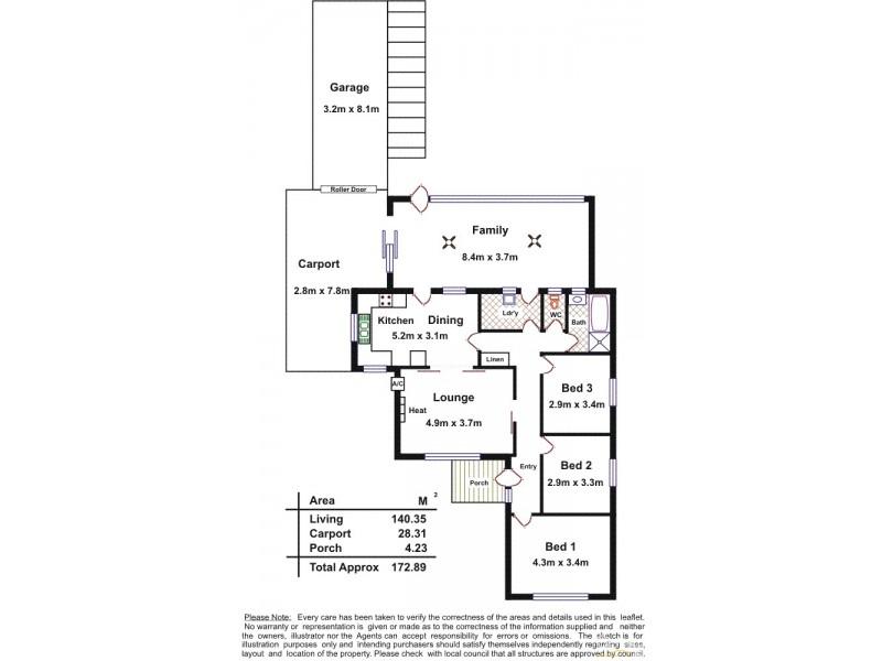 3A Myponga Terrace, Kilkenny SA 5009 Floorplan