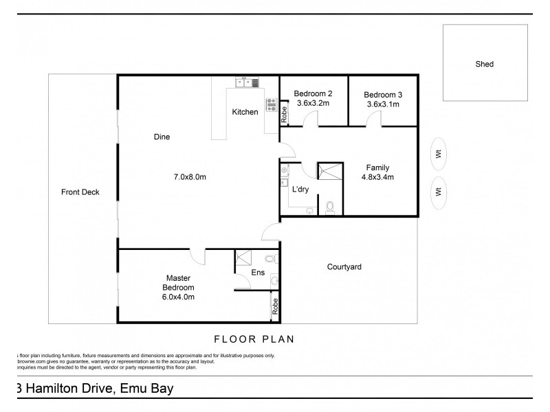 23 Hamilton Drive, Emu Bay SA 5223 Floorplan