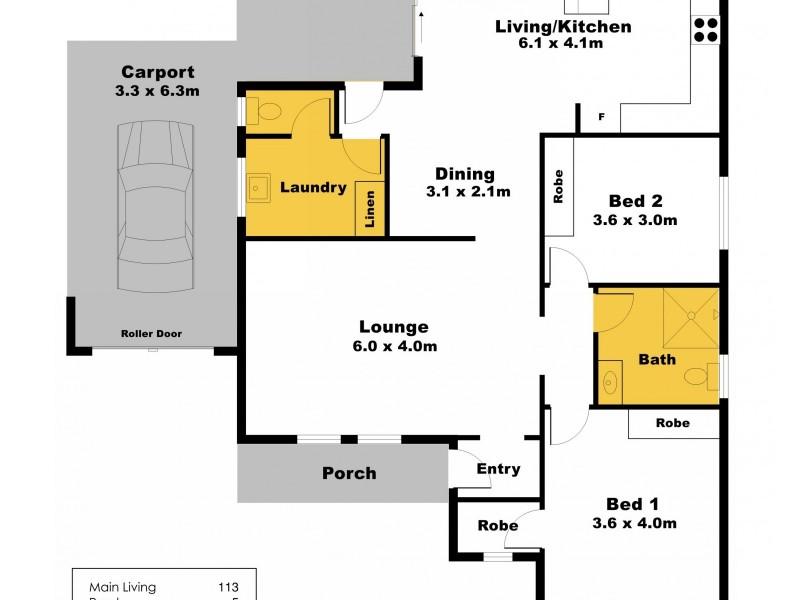 1/5 Tiddy Widdy Road, Ardrossan SA 5571 Floorplan