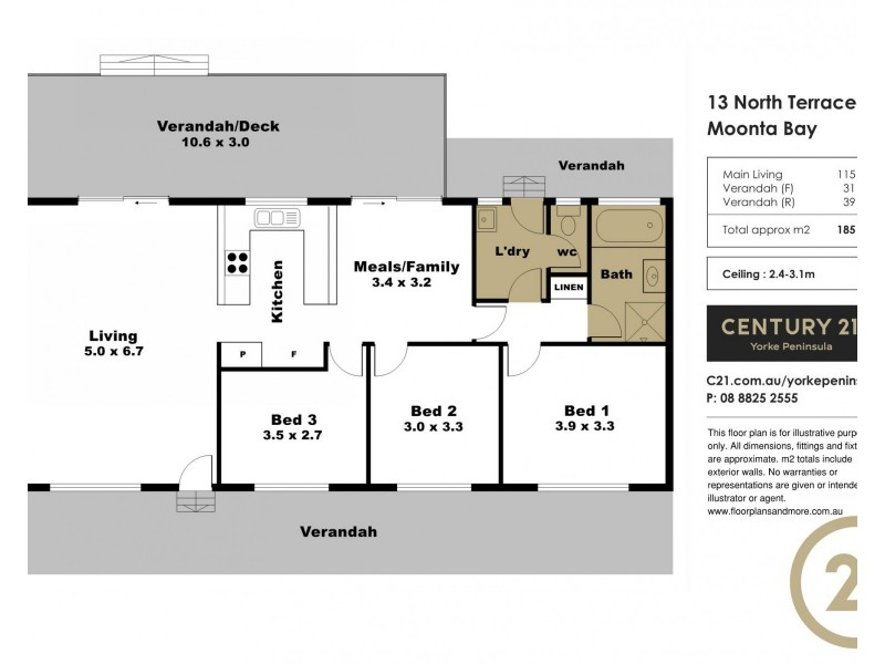 13 North Terrace, Moonta Bay SA 5558 Floorplan