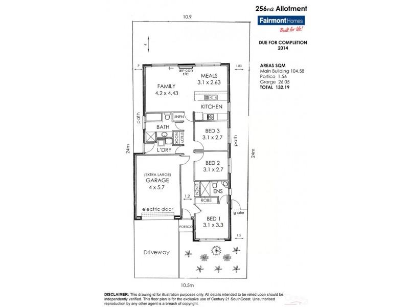 18B Kitto Crescent, Aldinga Beach SA 5173 Floorplan