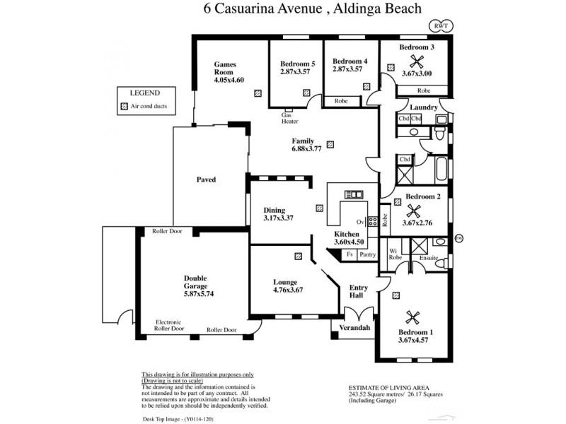 6 Casuarina Avenue, Aldinga Beach SA 5173 Floorplan
