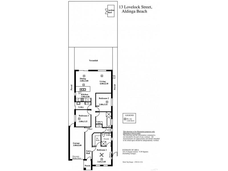 13 Lovelock Street, Aldinga Beach SA 5173 Floorplan
