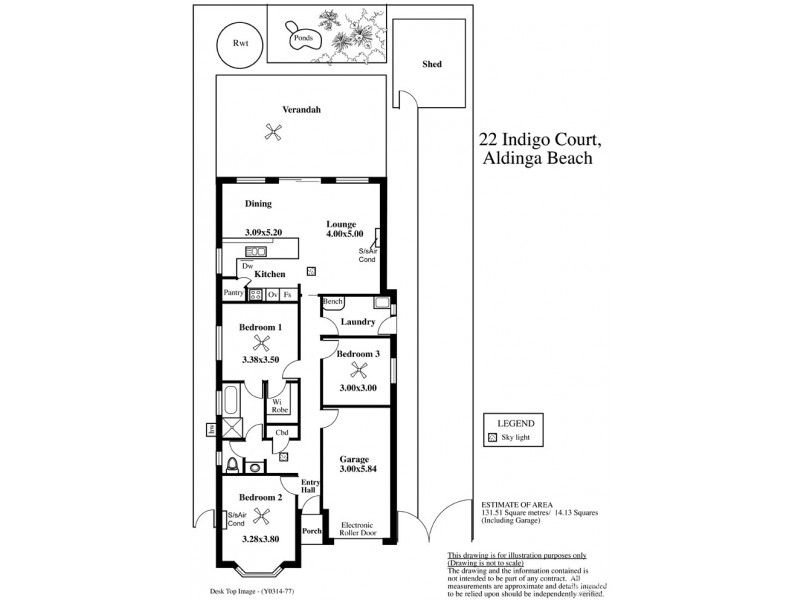 22 Indigo Court, Aldinga Beach SA 5173 Floorplan