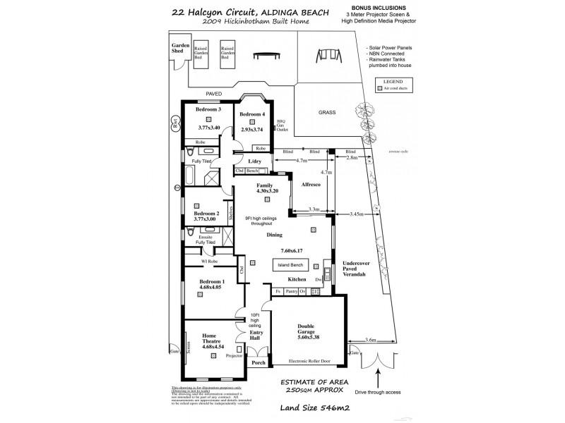 22 Halcyon Circuit, Aldinga Beach SA 5173 Floorplan
