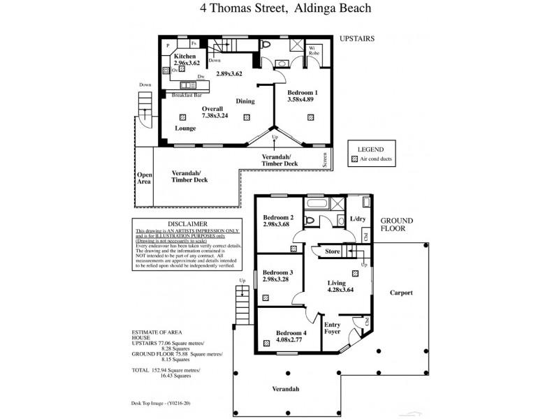 4 Thomas Street, Aldinga Beach SA 5173 Floorplan
