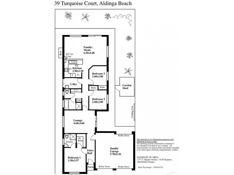 39 Turquoise Court, Aldinga Beach SA 5173 Floorplan