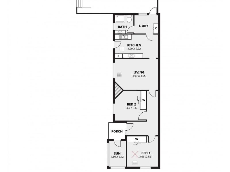 35 Belford Ave, Devon Park SA 5008 Floorplan