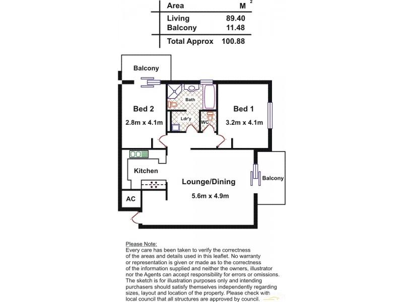 23/42 charlick Circuit, Adelaide SA 5000 Floorplan