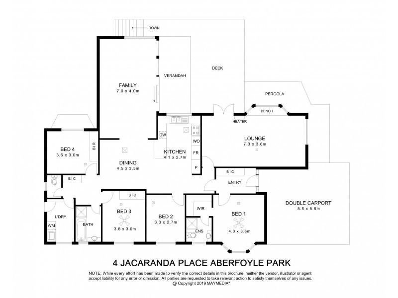 4 Jacaranda Place, Aberfoyle Park SA 5159 Floorplan
