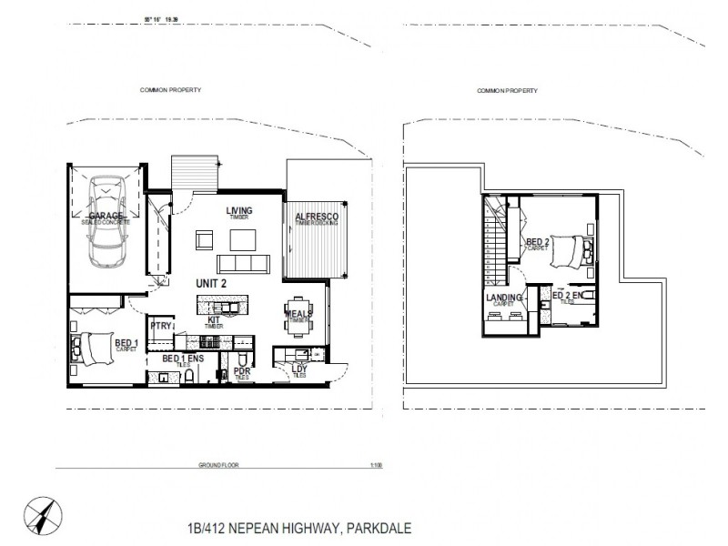 1b/412 Nepean Highway, Parkdale VIC 3195 Floorplan