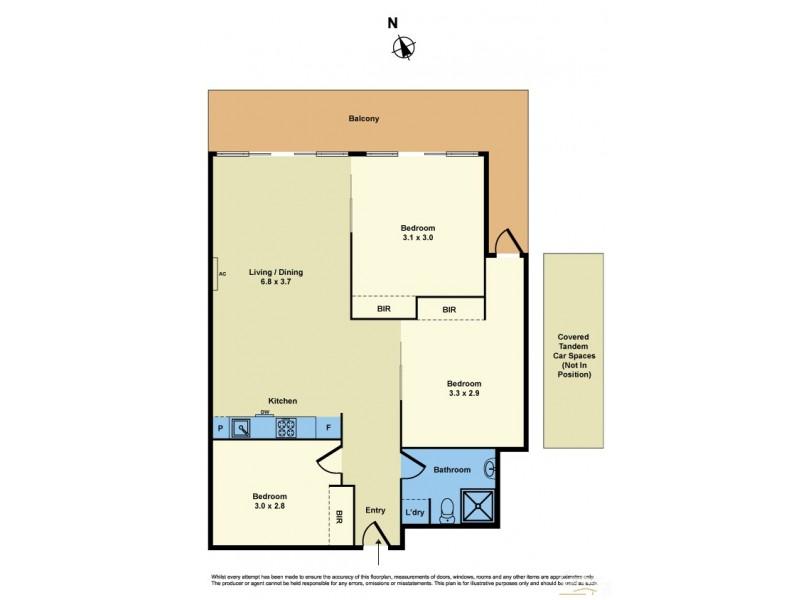 207/2 Rouse Street, Port Melbourne VIC 3207 Floorplan
