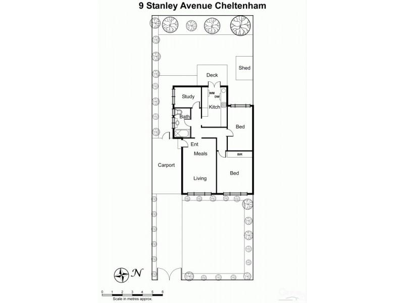 9 Stanley Avenue, Cheltenham VIC 3192 Floorplan