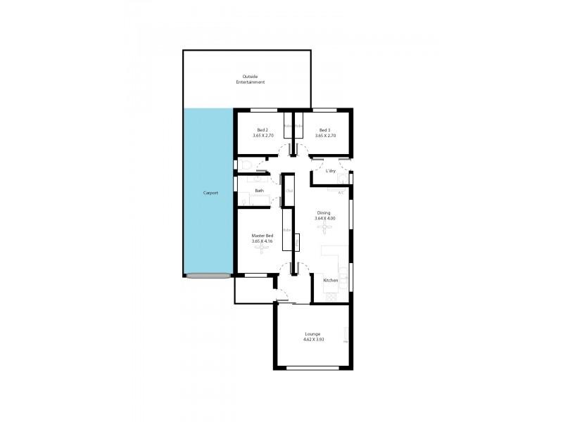 77 Beaconsfield Tce, Ascot Park SA 5043 Floorplan