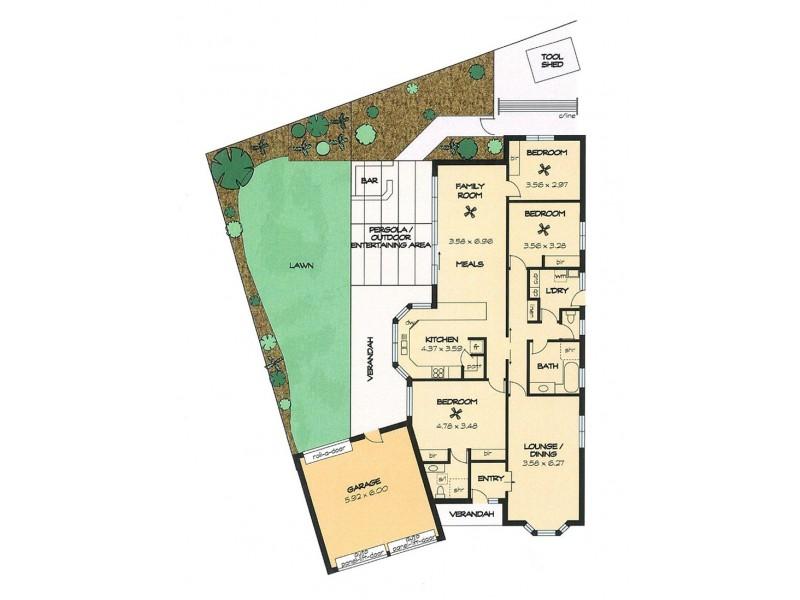 17 Margaret Cutten Grove, Aberfoyle Park SA 5159 Floorplan