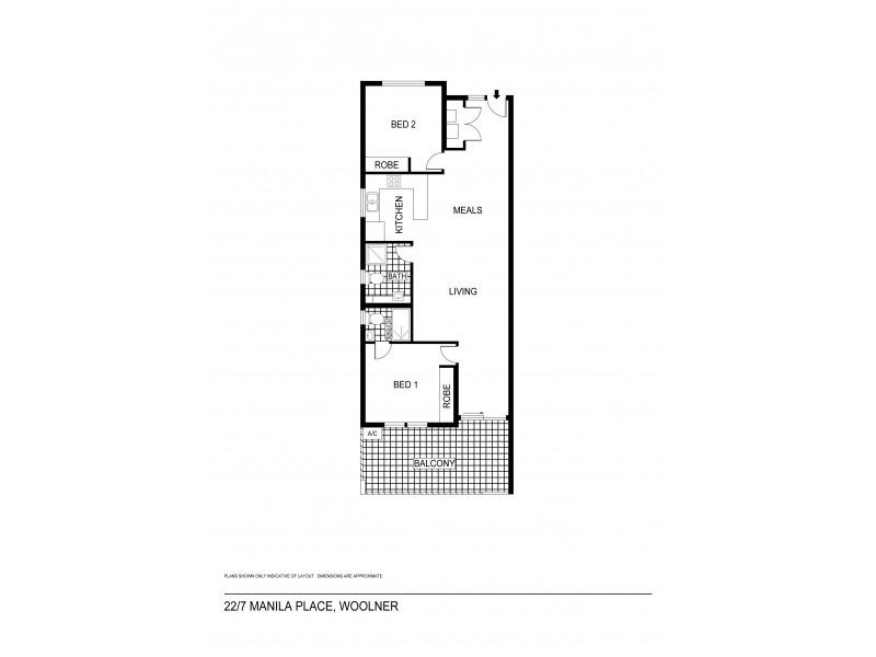22/7 Manila Pl, Woolner NT 0820 Floorplan