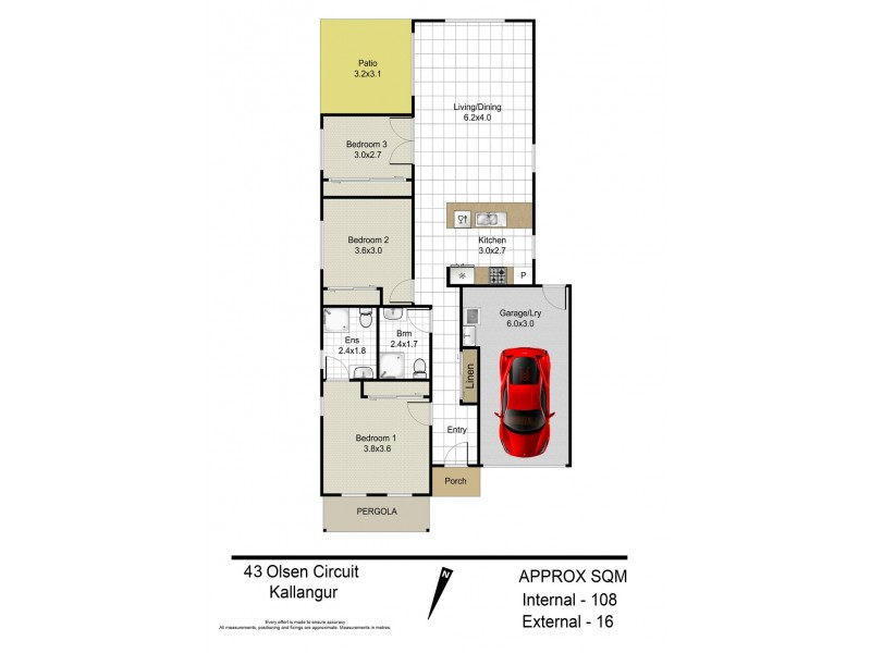 43 Olsen Circuit, Kallangur QLD 4503 Floorplan