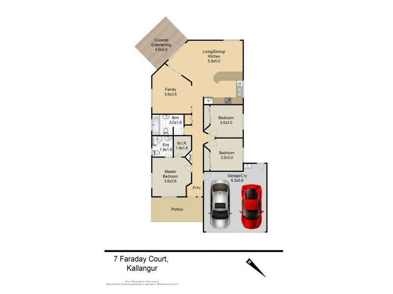 7 Faraday Court, Kallangur QLD 4503 Floorplan