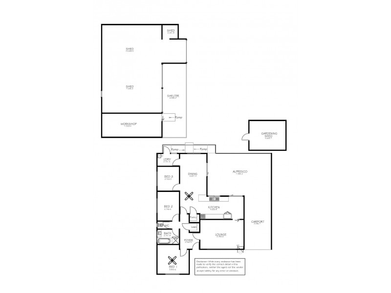 21 Central Street, Louth Bay SA 5607 Floorplan