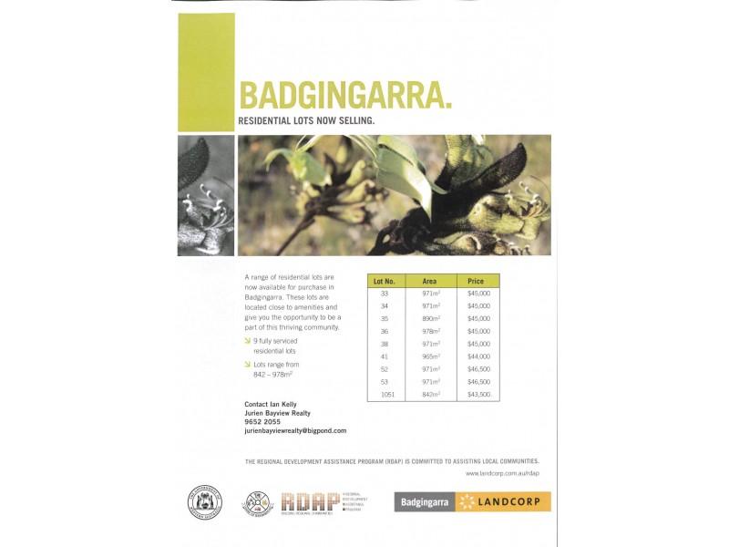 LOT 41 DODD STREET, Badgingarra WA 6521