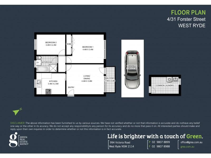 4/31 FORSTER STREET, West Ryde NSW 2114 Floorplan