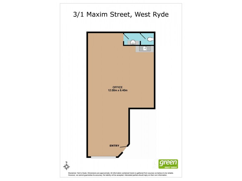 3/1 Maxim Street, West Ryde NSW 2114 Floorplan