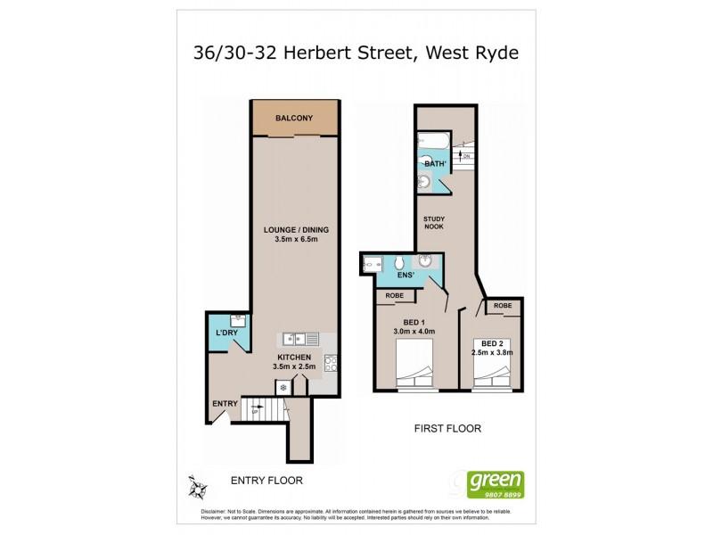 36/30 Herbert Street, West Ryde NSW 2114 Floorplan