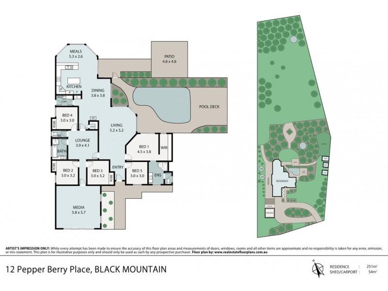 12 Pepper Berry Place, Black Mountain QLD 4563 Floorplan