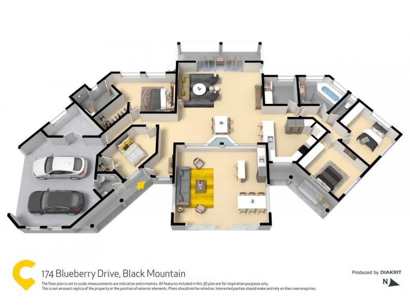 174 Blueberry Drive, Black Mountain QLD 4563 Floorplan