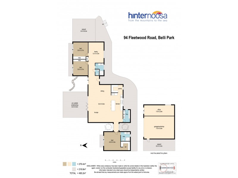 94 Fleetwood Road, Belli Park QLD 4562 Floorplan