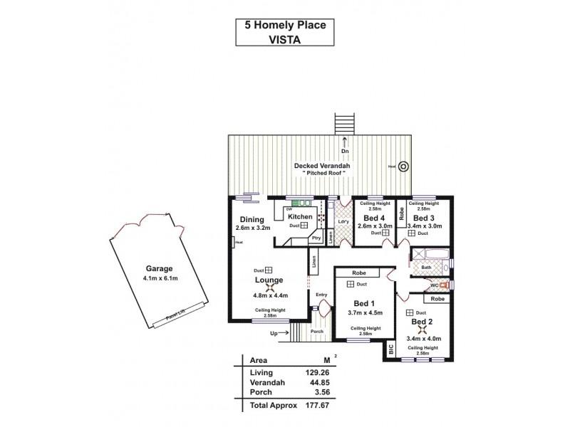 5 Homely Place, Vista SA 5091 Floorplan
