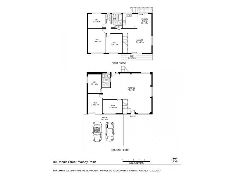 80 Donald Street, Woody Point QLD 4019 Floorplan