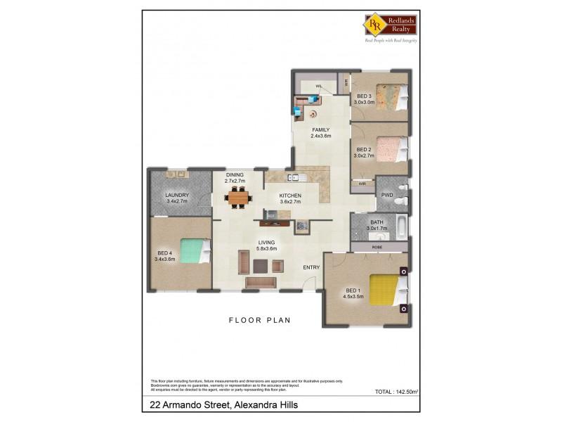 22 Armando Street, Alexandra Hills QLD 4161 Floorplan
