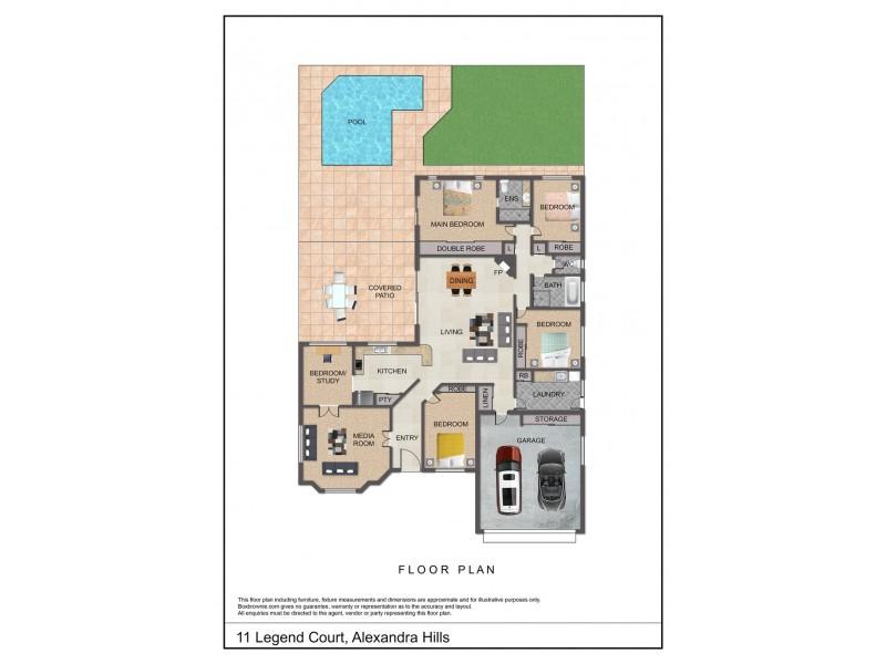 11 Legend Court, Alexandra Hills QLD 4161 Floorplan