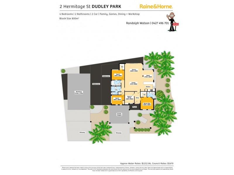 2 HERMITAGE STREET, Dudley Park WA 6210 Floorplan
