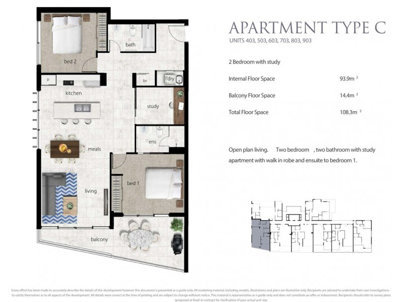 503/9-11 Enid Street, Tweed Heads NSW 2485 Floorplan