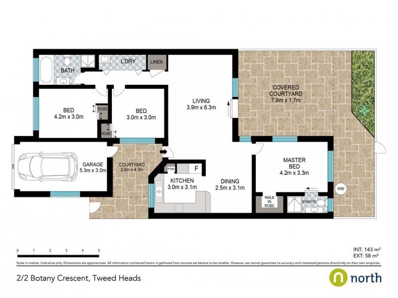 2/2 Botany Crescent, Tweed Heads NSW 2485 Floorplan