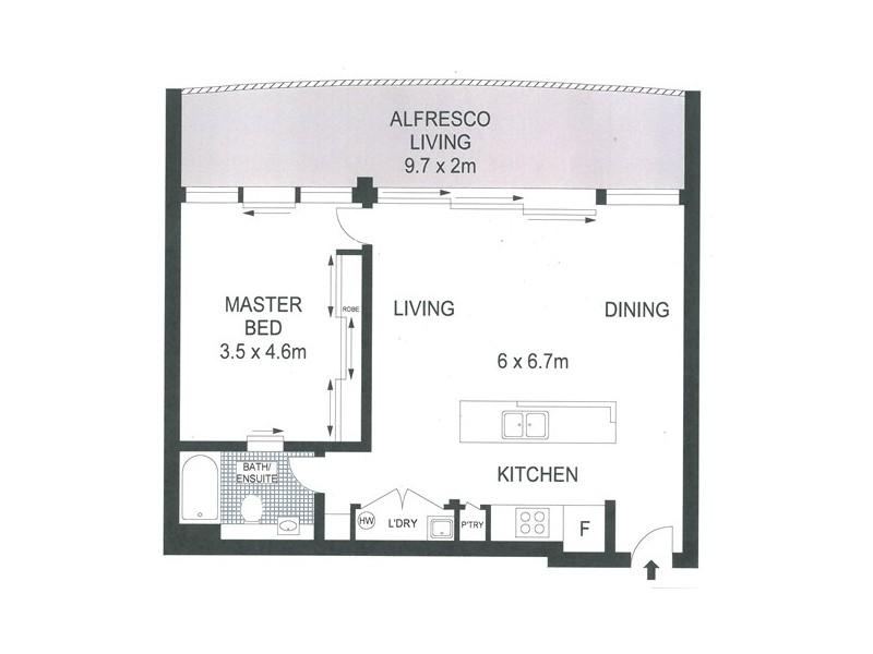 1046 / 18-20 Stuart St, Tweed Heads NSW 2485 Floorplan