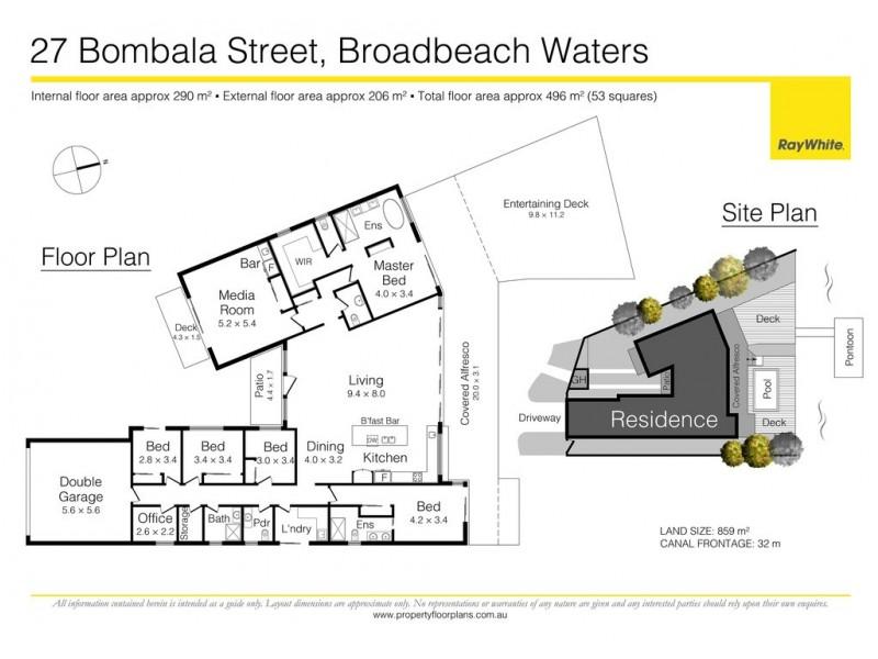 27 Bombala Street, Broadbeach Waters QLD 4218 Floorplan