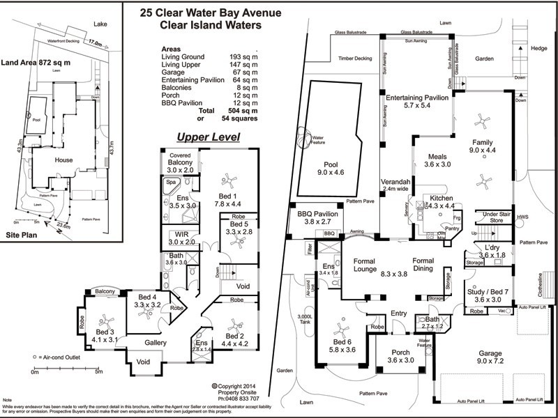 25 Clear Water Bay Avenue, Clear Island Waters QLD 4226 Floorplan