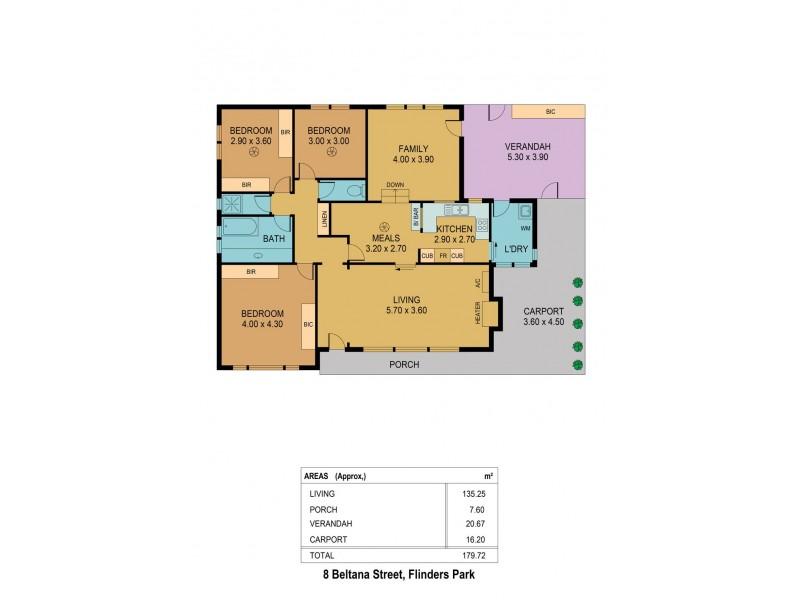 8 Beltana Street, Flinders Park SA 5025 Floorplan